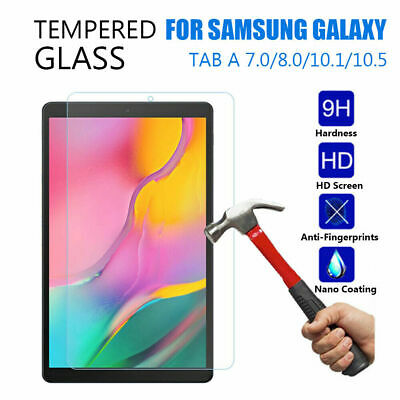 """Tempered Glass Screen Protector For Samsung Galaxy Tablet A 10.1"""" 10.5"""" E 9.6"""""""