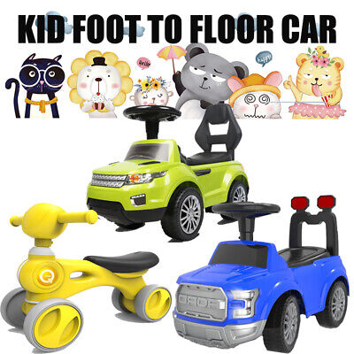 Kids Ride-On Toy Car Push Foot-to-Floor Toddler Walker Music Children