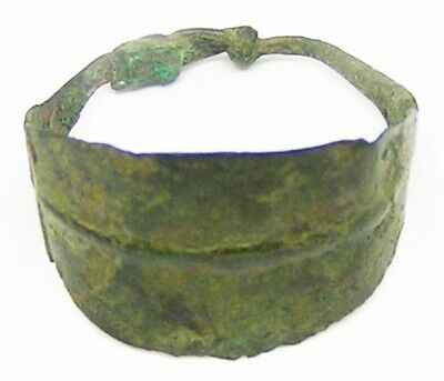 8th - 10th century AD Ancient Scandinavian Viking Copper-alloy Lozengiform Ring