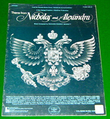 Theme from NICHOLAS and ALEXANDRA, 1971 PIANO SOLO Sheet Music, V.G. Condition