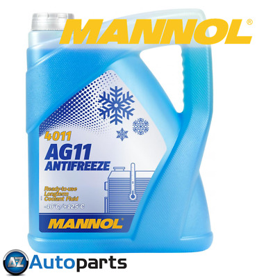 Mannol - Antifreeze Coolant AG11 Blue Ready To Use Mixed -40°C 5 Litre - 5L