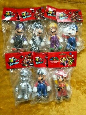 "Super Mario 5"" Supersize Action Figures - Super Mario Odyssey Series 2 Set NEW"