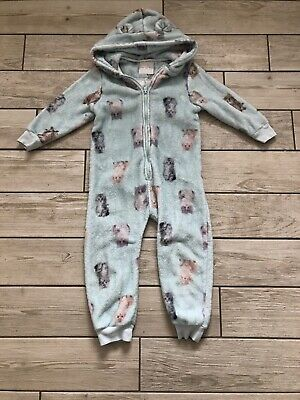 Next girls 4-5 Years fleece one piece pyjamas Onesie Not Gerber