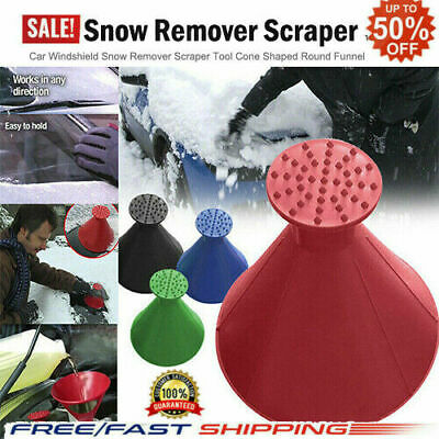 Magical Car Windshield Ice Snow Remover Scraper Tool Cone Shaped Round Funnel IS