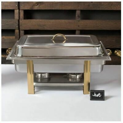 Full Size Chafer Chafing Dish 8 Qt Accent Chafer Stainless Steel Two Fuel Holder