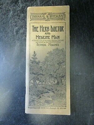 1922 Indiana Herbs - The Herb Doctor and Medicine Man Catalog / Booklet