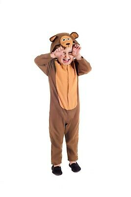 Toddlers Boys Girls Teddy Bear Costume Kids Cute Brown Hooded All In One Suit