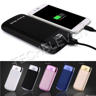 10000mah Portable LCD Power Bank 2USB Dual LED Battery Charger For All Phones