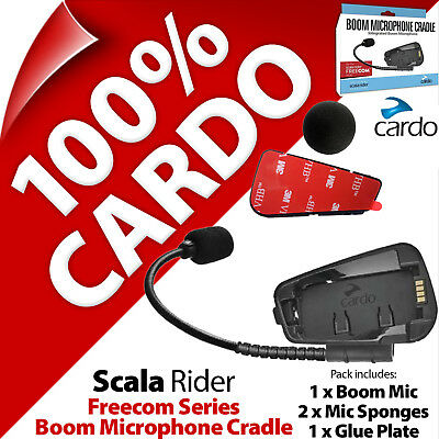 Cardo Scala Rider Boom Mic Microphone Helmet Cradle Freecom for 1 2 4 1+ 2+ 4+