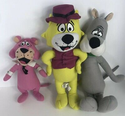 """Hanna Barbera Astro, Snaglepuss And Top Cat Lot 3 Plush Toys 16"""" Long"""