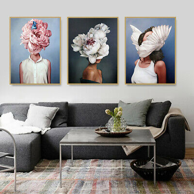 Ins Hot Chic Printed Canvas Painting Wall Art Picture Poster Living Room Decor