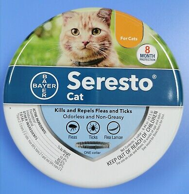 Bayer Seresto Flea and Tick Collar For Cats , 8 Months Protection