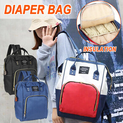 Baby Diaper Nappy Changing Large Mummy Hospital Maternity Bag Travel Backpack