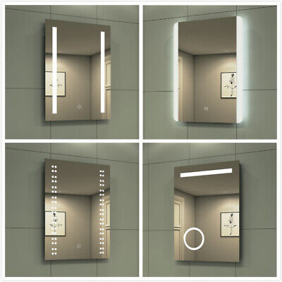 Bathroom LED Mirror Illuminated With Demister/Button/Touch/Make Up/Shaver Socket