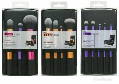 3 set RT Real Techniques Makeup Brushes Core Collection Travel Essential Brushes