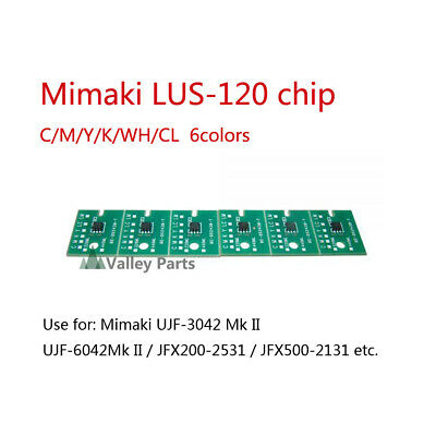 6Colors/set Mimaki LUS-120 One-time Chip for JFX200 UJV500-160 UJF-3042MkII 1L