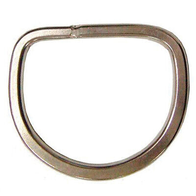 """C-Ty02 2"""" Hilason Stainless Steel Horse Western Tack Flat Rigging Dee Ring"""