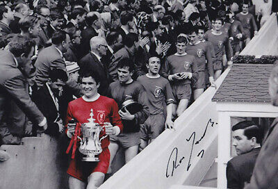 LIV 033 : HAND SIGNED 12x8 PHOTO LIVERPOOL 1965 RON YEATS