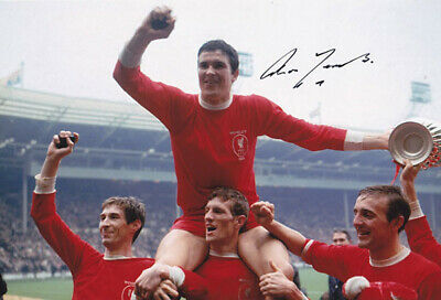 LIV 034 : HAND SIGNED 12x8 PHOTO LIVERPOOL 1965 RON YEATS