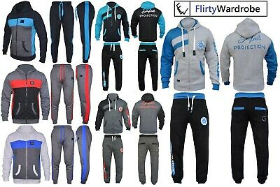Kids Tracksuit Set Fleece Hoodie Top & Bottoms Joggers Hnl Boys Girls Sports