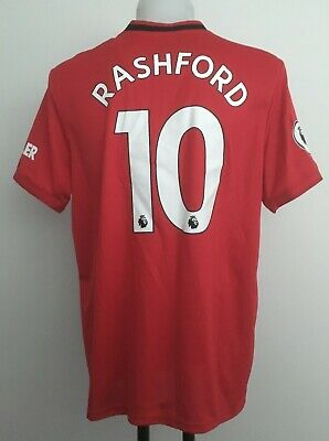 Manchester Utd 19-20 Climachill Home Shirt Rashford 10 By Adidas Men's Small