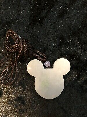 Burma Natural Grade A 100% Authentic Jade Pendant Mickey Mouse Necklace Handmade