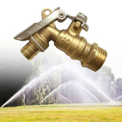 DN15 Garden Cooling Single Hole Water Tap Lockable Brass Sink Faucet Home Tools