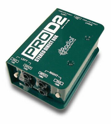 Radial Pro D2 Stereo Direct Box Designed for Keyboards in Studio and on Stage