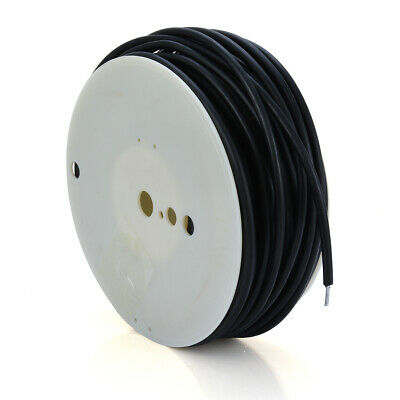 AU 50m Meters Electric Fence Insulated HDG wire Underground Cable Black Coating