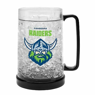 Canberra Raiders NRL Freeze Beer Stein Frosty Mug Cup Easter Gift 2020