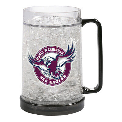 Manly Warringah Sea Eagles NRL Freeze Beer Stein Frosty Mug Cup Easter Gift 2020