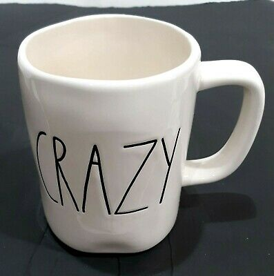 Rae Dunn Artisan Collection Magenta Large Letter Crazy Ivory Mug Cup