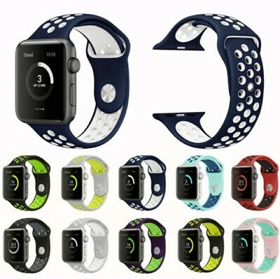 For Apple Watch iWatch Series For 2 3 4 38/30/42/44 Soft Silicone Strap Band M/L
