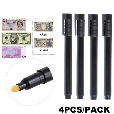 4X Money Tester Pens Counterfeit Forged Fake Detector Marker Bank Note Checker