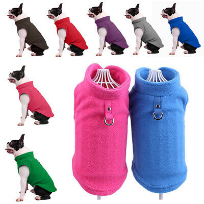 UK Small Dog Pet Coat Winter Soft Warm Jacket Fleece Clothes Cute Coat Sweater