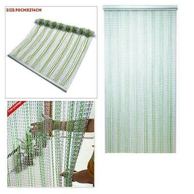 214x90CM Aluminum Door Curtain Metal Chain Fly Insect Blinds