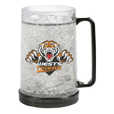 Wests Tigers NRL Freeze Beer Stein Frosty Mug Cup Easter Gift 2020