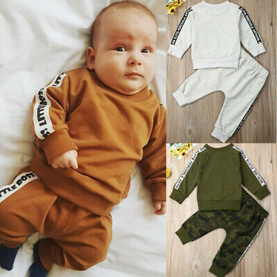 Toddler Baby Girl Boy Winter Clothes T-shirt Tops+Long Pants Outfit Tracksuit
