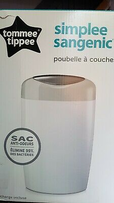 Tommee Tippee Twist and Click Advanced Nappy Disposal Sangenic Tec White