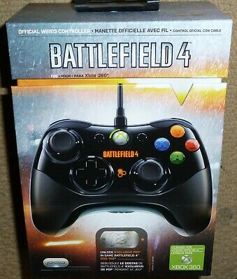 MICROSOFT XBOX 360 OFFICIAL BATTLEFIELD 4 WIRED USB CONTROLLER BRAND NEW Gamepad