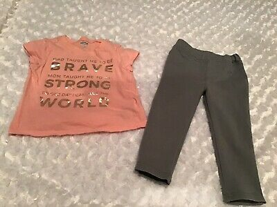 Old Navy/Maggie & Zoe Girls Outfit Set Size 12-18 Months In EUC (BIN AG)
