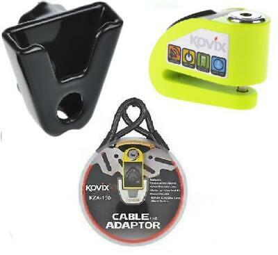 Kovix KD6 Disc Lock Flo Yellow + Cable Adaptor + Carry Holder