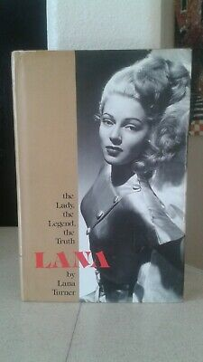 """Lana Turner Autographed Hardcover Book """"The Lady The Legend The Truth"""" Signed"""