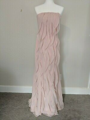 White By Vera Wang Formal Dress Womens 8 Form Fit Strapless Long Pink Blush