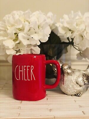 Rae Dunn Christmas Red Cheer Mug By Magenta NEW *VHTF*