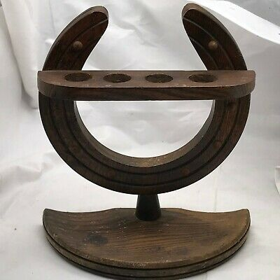 Antique Horse Shoe Pipe Rack Good Luck Pipe Rack Stand Horse Hoof