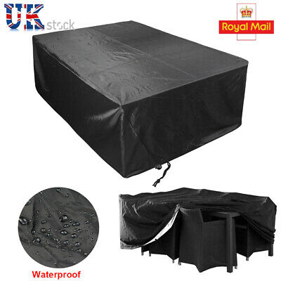 Dining Table Patio Garden Outdoor Waterproof Cover Large 213x132x74cm Furniture