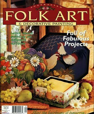 FOLK ART & DECORATIVE PAINTING Magazine Vol 9 No 8 ~ Comes With Pattern