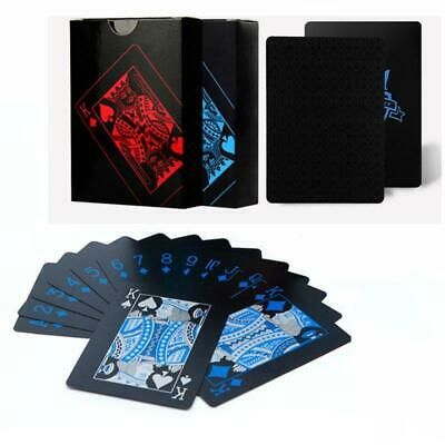 2 Decks Of Waterproof Poker Cards Plastic PVC Playing Card For Party Blue+Red