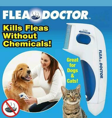 Flea Doctor Electric Cleaner Tick Remover Flea Comb Dogs Cats Pet Brush Lice NEW